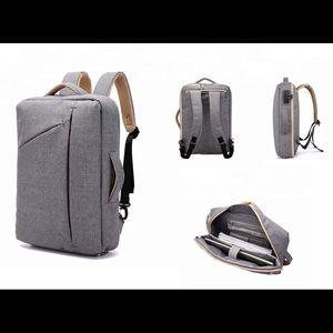 • Gray Backpack Antitheft •